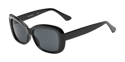 Angle of Nessa #2707 in Black Frame with Grey Lenses, Women's Cat Eye Sunglasses