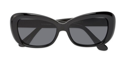 Folded of Nessa #2707 in Black Frame with Grey Lenses