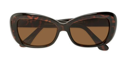Folded of Nessa #2707 in Tortoise Frame with Amber Lenses