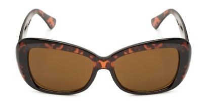 Front of Nessa #2707 in Tortoise Frame with Amber Lenses