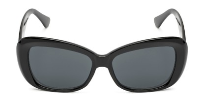 Front of Nessa #2707 in Black Frame with Grey Lenses