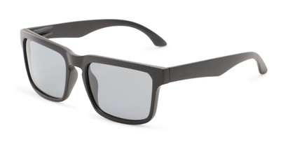Angle of Niagara #2041 in Glossy Black Frame with Smoke Lenses, Men's Retro Square Sunglasses