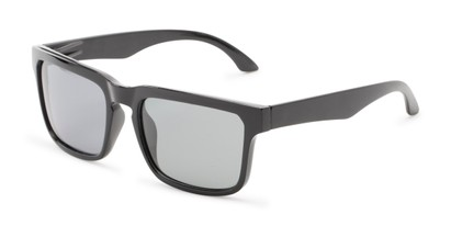 Angle of Niagara #2041 in Matte Black Frame with Smoke Lenses, Men's Retro Square Sunglasses