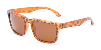 Angle of Niagara #2041 in Tortoise Frame with Amber Lenses, Men's Retro Square Sunglasses