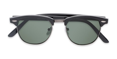 Folded of North Cape #5311 in Black Frame with Green Lenses