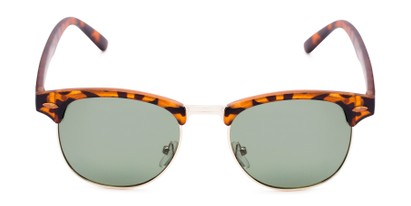 Front of North Cape #5311 in Matte Tortoise Frame with Green Lenses
