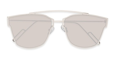 Folded of Octavia #6345 in Silver Frame with Silver Mirrored Lenses
