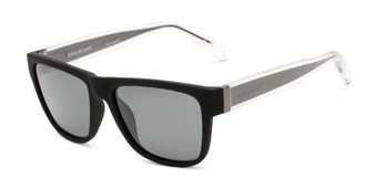 Angle of Omen by Anarchy  in Black/Clear Frame with Smoke Lenses, Women's and Men's Square Sunglasses