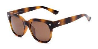 Angle of Ophelia #2033 in Tortoise Frame with Amber Lenses, Women's Cat Eye Sunglasses