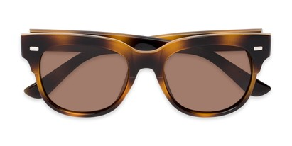 Folded of Ophelia #2033 in Tortoise Frame with Amber Lenses