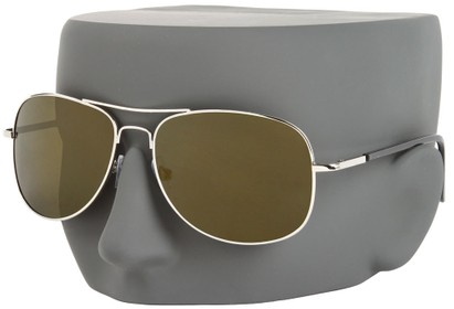 Image #3 of Women's and Men's SW Polarized Mirrored Aviator Style #68
