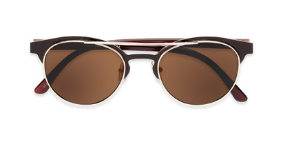 Folded of Pacer #1436 in Brown Frame with Amber Lenses