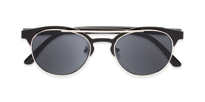 Folded of Pacer #1436 in Black Frame with Grey Lenses