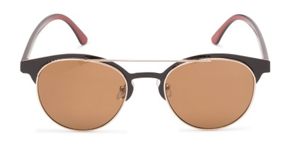 Front of Pacer #1436 in Brown Frame with Amber Lenses