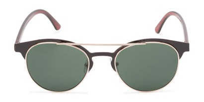 Front of Pacer #1436 in Black/Brown Frame with Green Lenses
