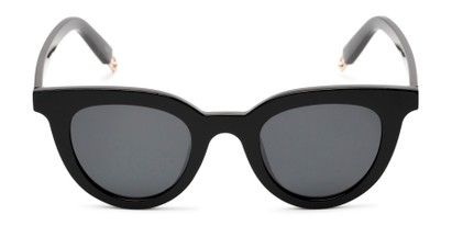 Front of Paige #1624 in Black Frame with Grey Lenses