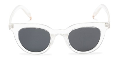 Front of Paige #1624 in Clear Frame with Grey Lenses