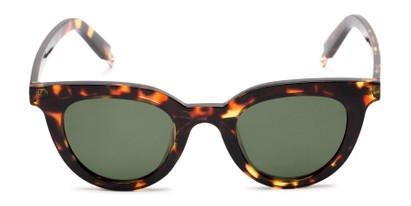 Front of Paige #1624 in Tortoise Frame with Green Lenses