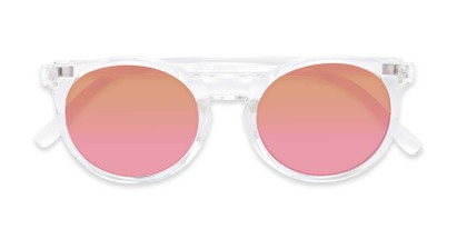 Folded of Paradise #4526 in Clear Frame with Orange/Pink Faded Lenses