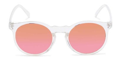 Front of Paradise #4526 in Clear Frame with Orange/Pink Faded Lenses