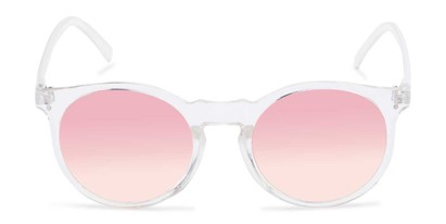Front of Paradise #4526 in Clear Frame with Pink Faded Lenses