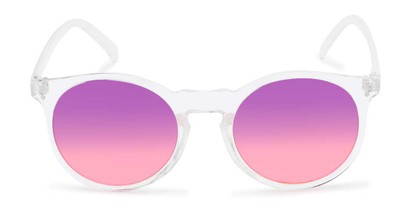 Front of Paradise #4526 in Clear Frame with Purple/Pink Faded Lenses