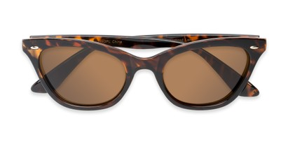 Folded of Paris #2265 in Tortoise Frame with Amber Lenses