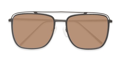 Folded of Patrick #31491 in Black Frame with Amber Lenses
