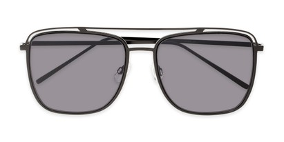 Folded of Patrick #31491 in Black Frame with Smoke Lenses