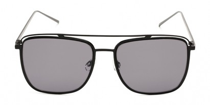 Front of Patrick #31491 in Black Frame with Smoke Lenses