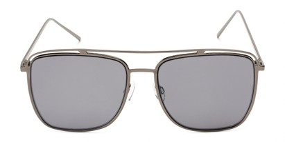 Front of Patrick #31491 in Grey Frame with Smoke Lenses