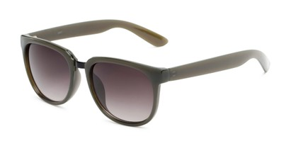 Angle of Payton #32027 in Dark Green Frame with Smoke Lenses, Women's Square Sunglasses