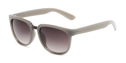 Angle of Payton #32027 in Grey Frame with Smoke Lenses, Women's Square Sunglasses