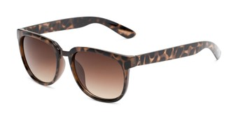 Angle of Payton #32027 in Tortoise Frame with Amber Lenses, Women's Square Sunglasses