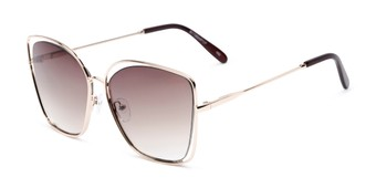 Angle of Pegasus #1726 in Gold Frame with Amber Gradient Lenses, Women's and Men's