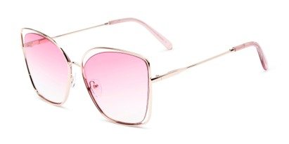 Angle of Pegasus #1726 in Gold Frame with Pink Gradient Lenses, Women's and Men's