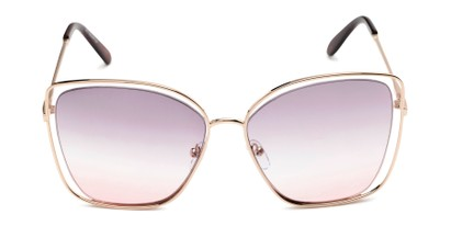 Front of Pegasus #1726 in Gold Frame with Purple/Pink Gradient Lenses