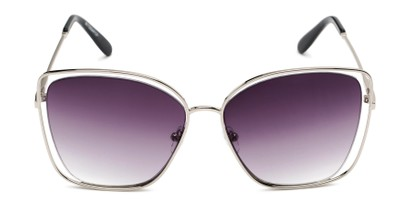 Front of Pegasus #1726 in Silver Frame with Smoke Gradient Lenses