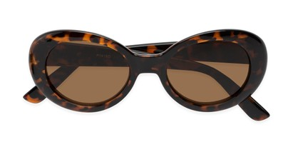 Folded of Penny #7410 in Tortoise Frame with Amber Lenses