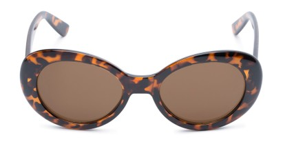 Front of Penny #7410 in Tortoise Frame with Amber Lenses