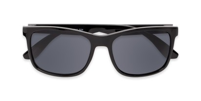 Folded of Perez #1651 in Black Frame with Grey Lenses