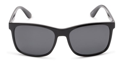Front of Perez #1651 in Black Frame with Grey Lenses