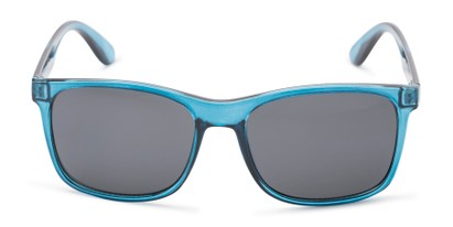 Front of Perez #1651 in Clear Blue Frame with Grey Lenses