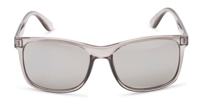 Front of Perez #1651 in Clear Grey Frame with Silver Mirrored Lenses