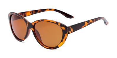 Angle of Petra #1312 in Tortoise Frame with Amber Lenses, Women's Cat Eye Sunglasses