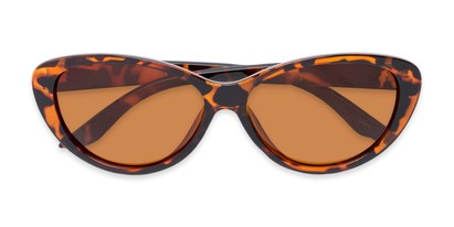 Folded of Petra #1312 in Tortoise Frame with Amber Lenses