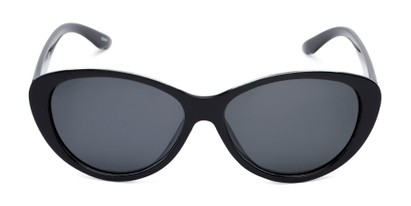Front of Petra #1312 in Black Frame with Grey Lenses