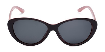 Front of Petra #1312 in Dark Red/Pink Frame with Grey Lenses