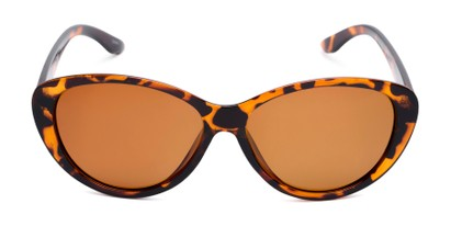 Front of Petra #1312 in Tortoise Frame with Amber Lenses