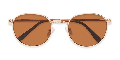 Folded of Phillips #7563 in Gold Frame with Amber Lenses